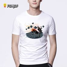Men short sleeves t-shirt rock music Artwork Organic Cotton Tops with Cool Good Selection t shirts Tops clothing(China)