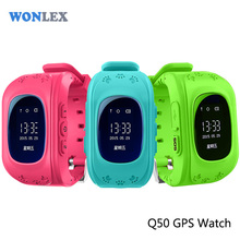 Wonlex Anti Lost Q50 OLED Child GPS Tracker SOS Smart Monitoring Positioning Phone Kids GPS Watch Compatible with IOS & Android(China)