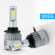 Super bright Auto Car H1 H3 H4 H7 H11 9005 9006 LED Headlights 72W 6500K 8000LM 12V COB Bulbs  Automobiles Replace Parts Lamp
