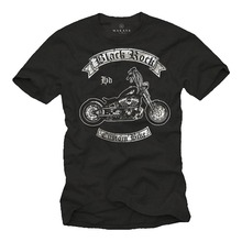 Hot Sale Punk Rock T-Shirts Biker Custom Chopper Motorcycle Cartoon tee shirt homme high quality top tees