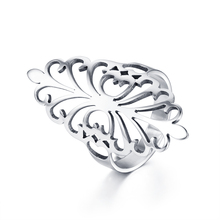 WAWFROK Fashion Elegant Original Daisy Flower Ring Clear Wedding Stainless steel Rings Jewelry(China)