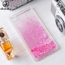 AKABEILA Glitter Liquid Soft TPU Case For Huawei P8 Lite P8 Mini Cover Coque For Huawei P8 Lite Phone Case Sand Back Covers