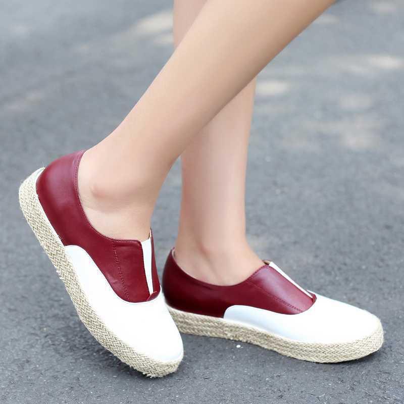 Fashion Women Flats With Platform Casual Mixed Colors Women Shoes 2015 Hot Sale Concise Ladies Shoes 2 Colors<br><br>Aliexpress
