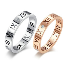Titanium Rings for Couples 316L Stainless Steel Rings Roman Numerals Engagement Wedding Ring Lover Rings  Free Shopping