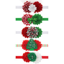 Baby Girls Chiffon Flower Headband Newborn Photography Props Baby Infants Headband Children Christmas Hair Accessories 1pc HB466(China)