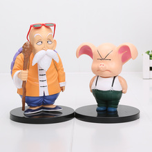 2pcs/set 11-15cm Dragon Ball Anime Master Roshi Kame Sennin & Oolong Boxed PVC Action Figure Collection Model Dolls Toy