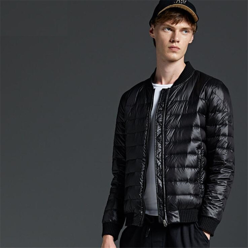 AGRADECIDO Winter Jackets Mens Feather Jacket Men Winter Coat Autumn Comfort Bomber Jacket Buy Down Vest Get a FREE Baseball cap