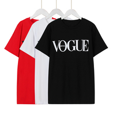 LNRRABC 1PC New Hot Sale Summer T-Shirts Black White Red S-XXL O-Neck Short Sleeve VOGUE letters Printed Comfortable T-Shirt
