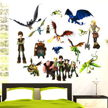 how to train your dragon 2 stickers  3d movie wall decals boys room decorations hot selling kids room wall arts
