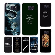 Harry Potter Doodle design transparent clear hard case cover for Samsung Galaxy S7 S8 Plus S6 S7 edge S5 S4 mini