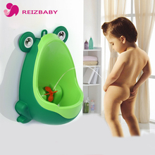 REIZBABY Children Baby Potty Toilet Kid Urinal Frog Style Portable Standing Toilet Windmill Suction Cups for Boy Bathroom Urinal