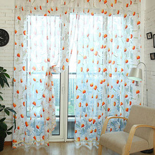 100 *200 CM Home Decoration Daisy Floral Pattern Window Voile Curtains For Girls Living Bed Room Curtain VBJ73 T35