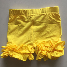 children ruffle shorts icing girl shorties 2pcs/lot  mix style and sizes yellow summer skinny capris girl short dress pants