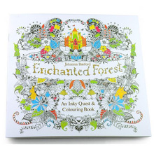2016 New arrival Relieve Stress For Adult Painting Drawing Book 24 Pages Enchanted Forest  Kill Time English colouring books