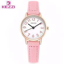 KEZZI Brand Watches Fashion Models Female Students Casual Quartz Wrist Watch Fabric Strap Arabic Numerals Dial Girl Wristwatches(China)