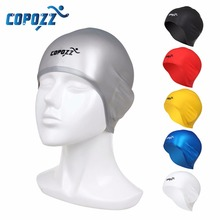 Copozz Swimming Caps Silicone Bathing Waterdrop Silicon Unisex Adult Waterproof Swimming Cap for Men Cover Protect Ear Swim Caps(China)