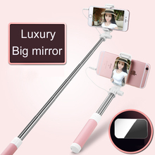 Lopez Universal Mini Selfie Holder Stick for IOS/ Android Luxury Phone Wired mirror Stick Holder, Camera Monopod Selfie Stick