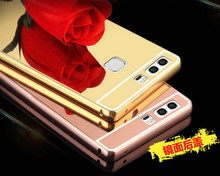New Mirror Aluminum Case Metal Ultra Acrylic Back Cover For Huawei Ascend P6 P7 P8 Lite P9 P9 Lite P9 Plus Fundas Cases & Gift