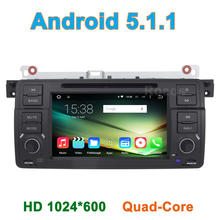Quad core Android 5.1.1 Car DVD Player for BMW 3 Series E46 M3 Rover 75 MG ZT with Radio WiFi Bluetooth GPS Navigation 1024*600