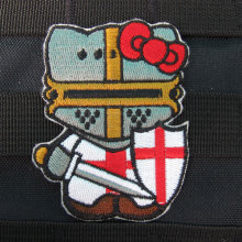 Hello Kitty  Crusader Kitty Military Tactics Morale Embroidery patch Badges B2656