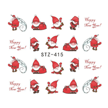 1 sheet Christmas Santas Snowflake Snowman Mixed Designs DIYSticker Water Transfer Nail Art Stickers Nails Decals JISTZ415-436(China)