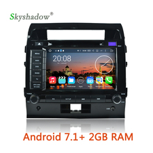 Android 7.1 quad Core 2G RAM Car DVD multimedia Player GPS map Radio TV camera Wifi For Toyota Land Cruiser 200 2007 -2012 2013