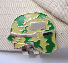 Free Shipping Brand New Military Helmet Golf Ball Marker & Magnetic Hat Clip, 2pcs/lot