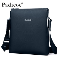 Padieoe 2016 Best quality men's shoulder messenger bags genuine leather crossbody sling bags Leisure business handbags for male(China)