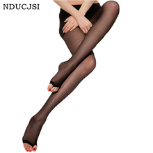 Buy Fashion Open Toe Tights Sexy Women Autumn Stockings Long Tights Female Thin Pantyhose Transparent Stylish Medias 4 Colors WA073