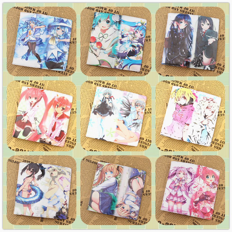 New Japan Anime VOCALOID Hatsune Miku Wallet Anime Cartoon Snow Miku Long PU Leather Wallets Cards Holder Purse<br><br>Aliexpress