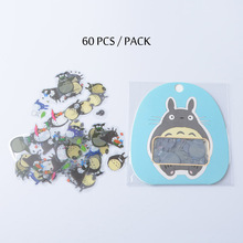 60pcs/pack Studio Ghibli Anime TOTORO Tattoo Stickers for Kids Miyazaki Hayao Model TOTORO Children Sticker for Notebook iphone