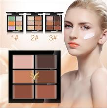 1pcs brand huamianli6 color foundation concealer, black eye pimples India lips primer(China)
