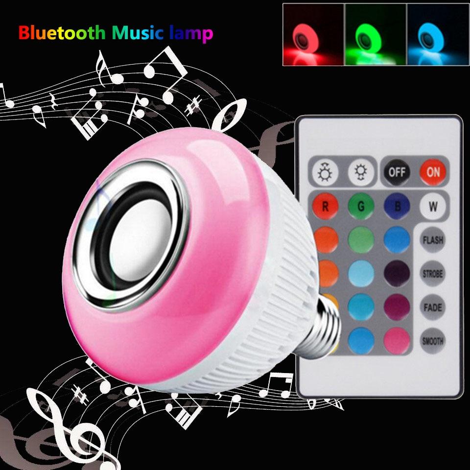 lampada bluetooth musical new year gift wireless led bulb e27 rgb with speaker globo de luz de festa play bulbs intelligent mu<br>
