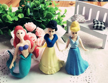 New Arrival Magic Eraser 2015 summer Princess Eraser Girl Eraser Fashion Eraser 3 pieces per lot(China)