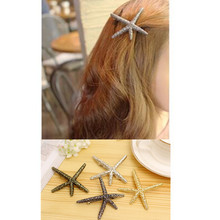 T46 High Quality Exquisite Big Starfish Hair Clips Fashion Jewelry HOT HOT HOT Korean Style Hair Accessories Selling Wholesale(China)