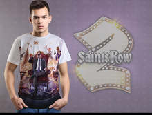 [XHTWCY] 2017 New Men T-Shirt New Saints Row Iv Design Tees Tops For Male Cotton Clothes Free shipping(China)