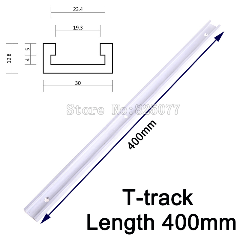 2PCS T-track length 400mm(16inch) T-slot Miter Track Jig Fixture Slot For Router Table Band Saw T-tracks KF917<br>