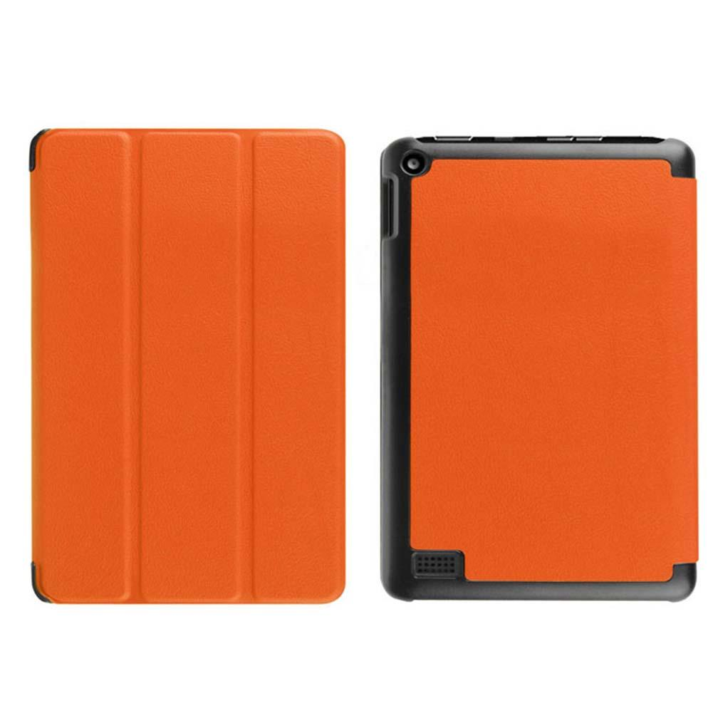 Orange Ultra Slim Leather Case Stand Cover for Amazon Kindle Fire HD 7 Tablet best case for tablet protection cover Hot(China (Mainland))