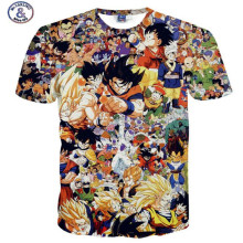 Mr.1991INC&Miss.GO Fashion Anime T Shirt Dragon Ball Z Comics T-shirt summer style Men's Clothing
