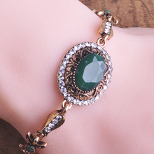 Blucome Vintage Resin Bracelets Women Hand Accessories Bijoux Pulseira Pulseiras Femininas Bijuterias Turkish Lady Party Jewelry