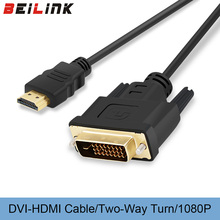 BEILINK HDMI to DVI 24+1 pin adapter cables 1080P 3D HDMI cable for LCD DVD HDTV XBOX High speed DVI hdmi cable 1M 2M 3M 5M