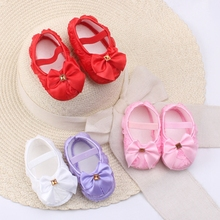 Newborn Baby Girls Princess Bow Lace Flower Kids First Walkers Infant Shoes sapato bebe(China)