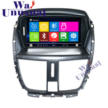 WANUSUAL 7 Inch Professional Wince Car Entertainment System Radio Player For peugeot 207 Auto GPS Navigation with 8GB Free Maps