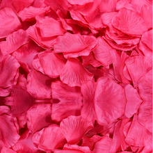 Top quality 1000pcs Silk Rose Flower Petals Leaves Wedding Decorations Party Festival Table Confetti Decor(China)