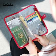 Hot Sale Travel Passport Cover Wallet Multifunction Credit Card Package ID Holder Storage Organizer Clutch Money Bag Travel Bags