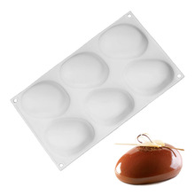 White Silicone Super Vivid Elliptical Pebble Stone Baking Pan For Cakes Mousse Dessert Non-Stick Mold Tools Bakeware Cake Pans
