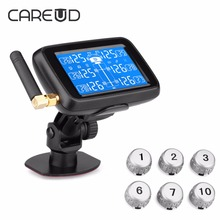 CAREUD U901 TPMS Auto Truck Car Tire Pressure Monitor System with 6 External Sensors LCD Display Real-time Monitoring