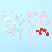 7pcs Flower and Branch Metal Cutting Dies Stencils for DIY Scrapbooking Photo Album Decorative Embossing DIY Crafts