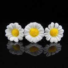 Wholesale 200 Pcs New Sunflower White Yellow Daisy Hair Grips Pins Clips Festival Chic Wedding Bridal Prom Party
