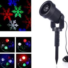 2017 Mery Christmas Lights Outdoor LED Snowflake Projector Light Star Lawn Lamps Light Waterproof Snow Lasers Christmas Lights(China)
